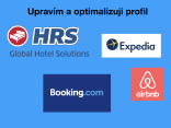 Optimalizuji Vám profil na Booking  Expedia Airbnb HRS